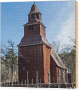 Skansen Church Wood Print