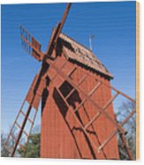 Skansen Windmill Wood Print