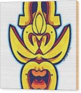 Skate Worrior Mask Wood Print
