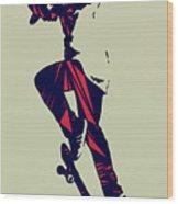 Skateboarder  Wood Print