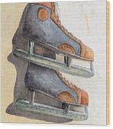 Skates Wood Print