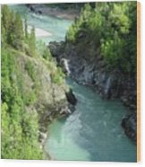 Bulkley River Canyon Wood Print
