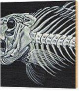 Skeletail Wood Print