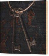 Skeleton Keys Wood Print