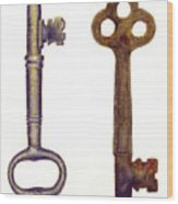Skeleton Keys Wood Print