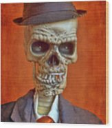 Skeleton Man Wood Print