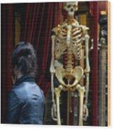 Skeleton Staff Wood Print