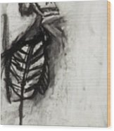 Skeleton Study Wood Print