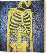 Skeletoon Wood Print