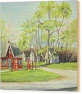 Skelly Gas Station Wood Print