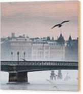Skeppsholmsbron, Stockholm Wood Print by Hannes Runelöf