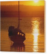 Skerries Harbour October Sunset  Wood Print