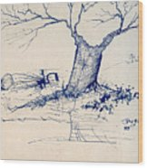 Sketch 6 Wood Print