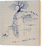 Sketch 7 Wood Print