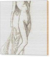 Sketch Model 9 Wood Print