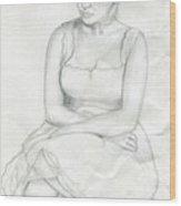 Sketch Of Marilyn Monroe Wood Print
