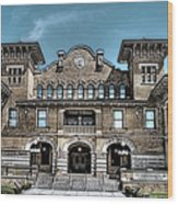 Sketch Of The Tt Wentworth Museum Wood Print