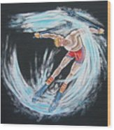 Ski Bum Wood Print