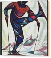 Ski Colorado, United States - Colorado Winter Sports - Retro Travel Poster - Vintage Poster Wood Print