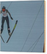 Ski Jumper 2 Wood Print