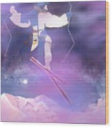 Ski Kachina Bowl Taos New Mexico Wood Print
