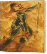 Ski Lady - Tile Wood Print