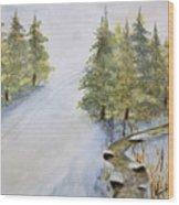 Ski Mountain Wood Print
