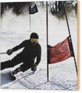 Ski Racer 2 Wood Print