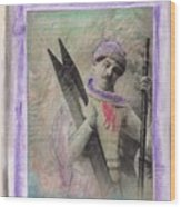 Skiboarder Around 1930 Wood Print