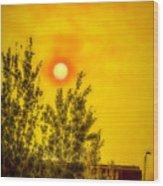Skies Of Smoke And Fire Wood Print