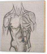 Skin And Muscle Wood Print