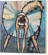 Skinny Ballerina. Wood Print
