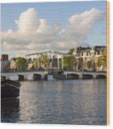Skinny Bridge In Amsterdam Wood Print