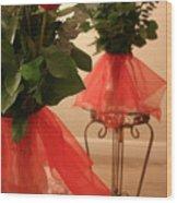 Skirted Roses In Mirror Wood Print
