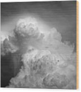 Skirting The Storm Wood Print