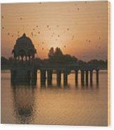 Skn 1372 Sunrise Flight Wood Print