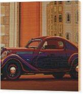 Skoda Popular Sport Monte Carlo 1935 Painting Wood Print