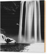 Skogafoss On A Cloudy Day Wood Print
