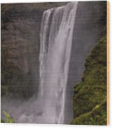 Skogafoss Wood Print