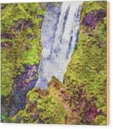 Skogafoss Waterfall #10 Wood Print