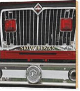 Skowhegan Maine Firetruck Grill Wood Print