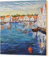 Skudeneshavn Norway Wood Print