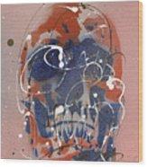 Skull #6 Wood Print