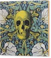 Skull And Cross4 Wood Print