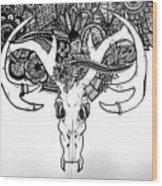 Skull Art Wood Print