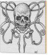 Skull Design Wood Print