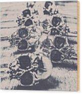 Skull Fashion Accessories  Wood Print