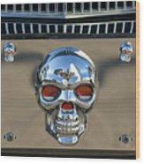 Skull License Plate Wood Print