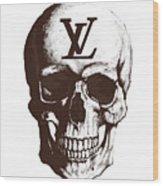 Skull Lv Braun Wood Print