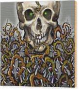 Skull N Thorns Wood Print